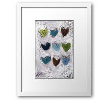 Happy Hearts No. 7 Framed Print