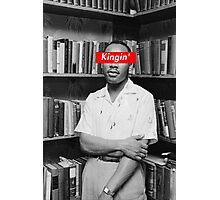 KINGIN' - MLK x Box Logo Photographic Print