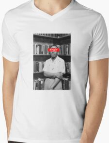 KINGIN' - MLK x Box Logo Mens V-Neck T-Shirt