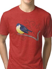 yellow bird with swirls Tri-blend T-Shirt