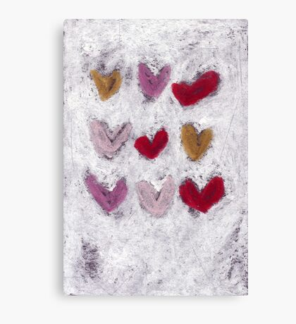 Happy Hearts No.8 Canvas Print