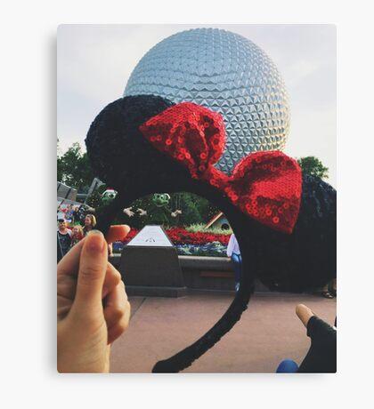 Minnie Ears + Spaceship Earth Canvas Print