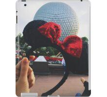 Minnie Ears + Spaceship Earth iPad Case/Skin