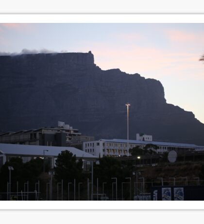 Iconic Table Mountain in Cape Town Sticker