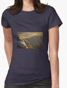 Mountain Landscape Nature Fine Art Photography 0003 Womens Fitted T-Shirt