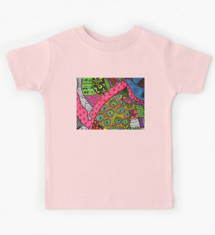 Abstract Fluoro 2 alternate landscape view    Kids Tee