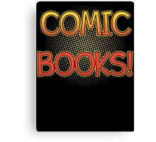 Comic Books T Shirt Canvas Print