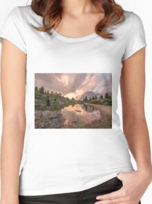 Forest River Nature Fine Art Photography 0005 Women's Fitted Scoop T-Shirt
