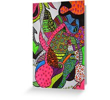 Abstract Fluoro 1 Entire Work Greeting Card