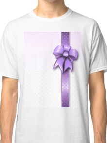 Lilac Present Bow Classic T-Shirt