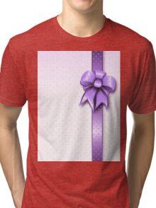 Lilac Present Bow Tri-blend T-Shirt