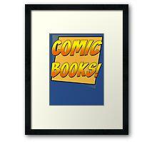 Retro Comic Books T Shirt Framed Print