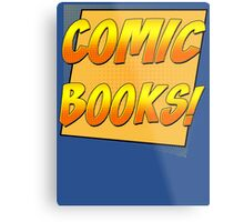 Retro Comic Books T Shirt Metal Print