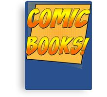 Retro Comic Books T Shirt Canvas Print