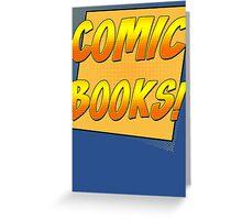 Retro Comic Books T Shirt Greeting Card