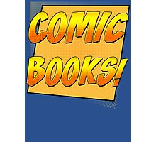Retro Comic Books T Shirt Photographic Print