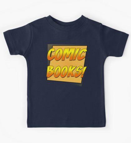 Retro Comic Books T Shirt Kids Tee
