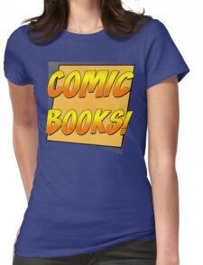 Retro Comic Books T Shirt Womens Fitted T-Shirt