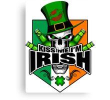 Irish Saint Patrick's Day Skull  Canvas Print