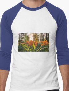 Tulips Garden Spring Fine Art Photography 0009 Men's Baseball ¾ T-Shirt