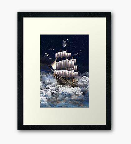 Fantasy Sailingship Framed Print