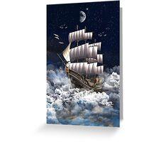 Fantasy Sailingship Greeting Card