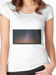 Night Sky Nature Fine Art Photography 0011 Women's Fitted Scoop T-Shirt