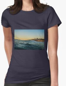 Riding Waves Ocean Nature Fine Art Photography 0012 Womens Fitted T-Shirt
