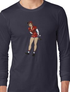 baseball pin up girl Long Sleeve T-Shirt