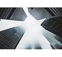City Skyscrapers Foggy Nature Fine Art Photography 0013 Photographic Print