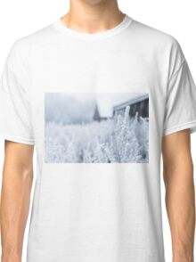 Snowy Plant Field Nature Fine Art Photography 0014 Classic T-Shirt