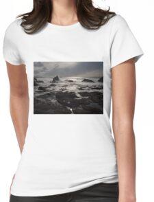 Sunset Dark Beach Stones Nature Fine Art Photography 0016 Womens Fitted T-Shirt