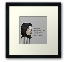 Torment Quote Framed Print