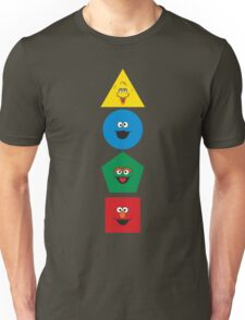 Sesame Street Primary Colors Basic Shapes Unisex T-Shirt