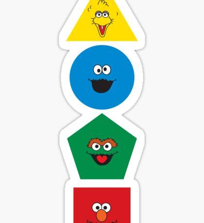 Sesame Street Primary Colors Basic Shapes Sticker