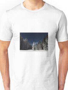 Winter Snowy Forest Nature Fine Art Photography 0017 Unisex T-Shirt