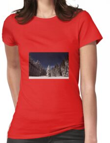 Winter Snowy Forest Nature Fine Art Photography 0017 Womens Fitted T-Shirt