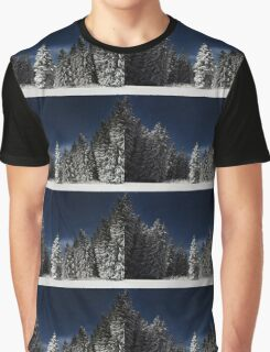 Winter Snowy Forest Nature Fine Art Photography 0017 Graphic T-Shirt