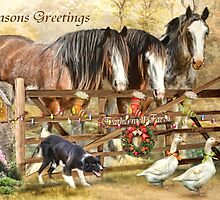 Christmas At Featherwell Farm by Trudi's Images