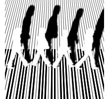 Abbey Road Zebra Crossing Piano Black and White Keyboard   Photographic Print