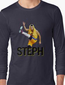 Curry Three Pose Long Sleeve T-Shirt