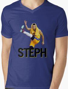 Curry Three Pose Mens V-Neck T-Shirt