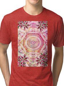 Colourful Pattern Background Tri-blend T-Shirt