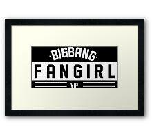 BIGBANG FANGIRL Framed Print