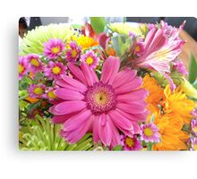 Vibrant Flowers Metal Print