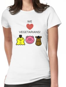 we love vegetarians Womens Fitted T-Shirt