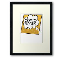 Comic Books Thought Bubble T Shirt Framed Print