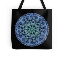 Blue Tranquil Mandala  Tote Bag