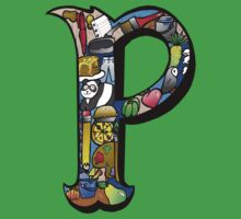 Doodle Letter P Baby Tee
