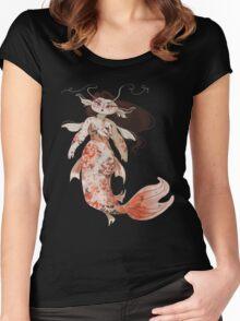 Koi Pond Mermaid Women's Fitted Scoop T-Shirt